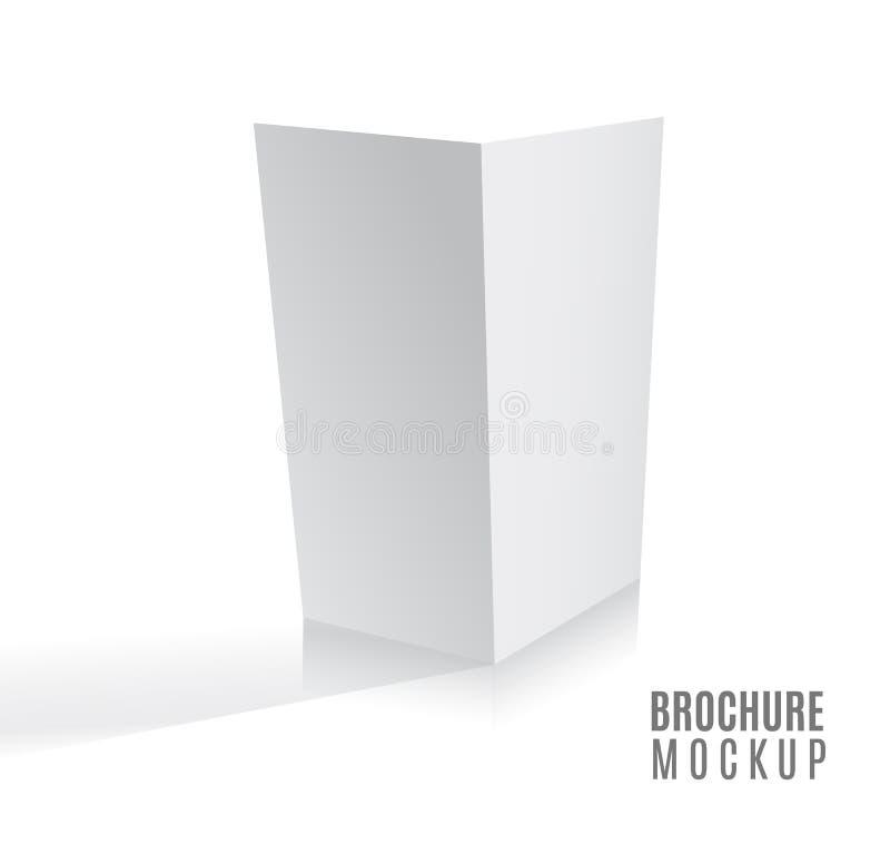 杂志、小册子、明信片、飞行物、在白色或者小册子大模型模板隔绝的企业3d卡片 库存例证
