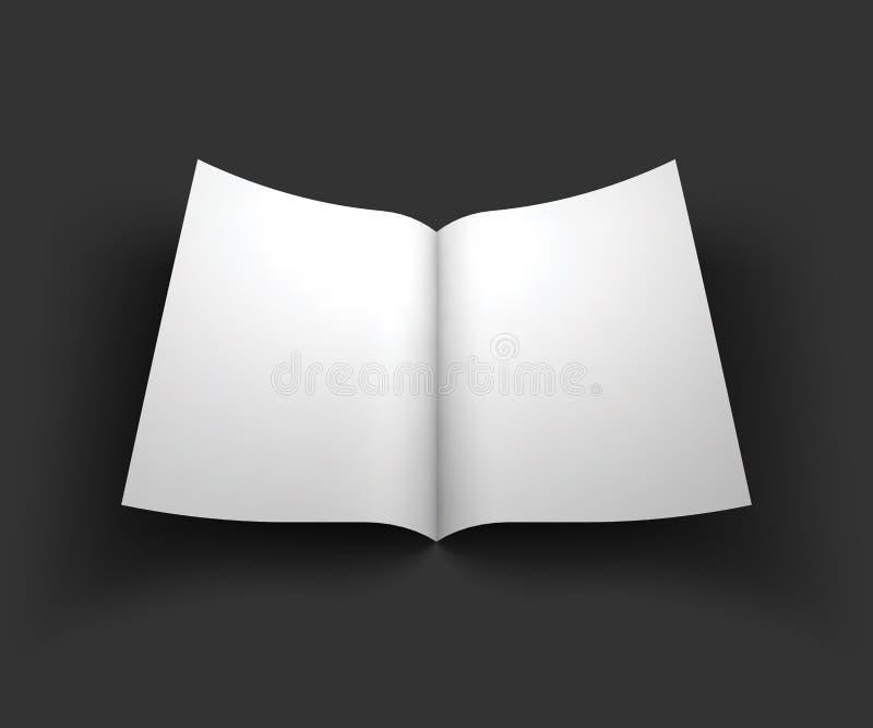 杂志、小册子、明信片或者小册子大模型 皇族释放例证