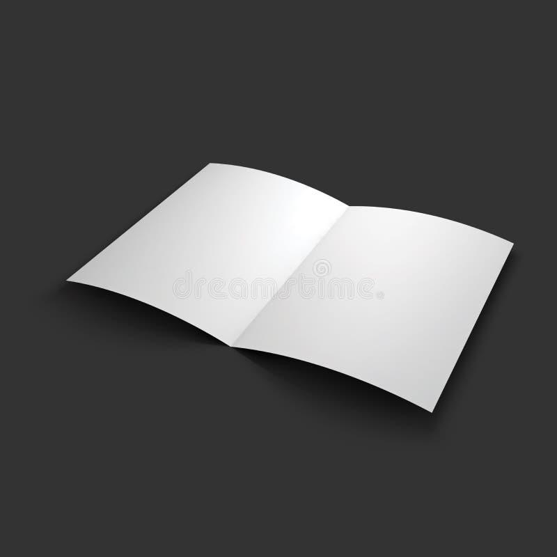 杂志、小册子、明信片或者小册子大模型 库存例证