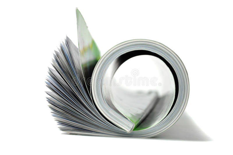 杂志卷 免版税库存照片