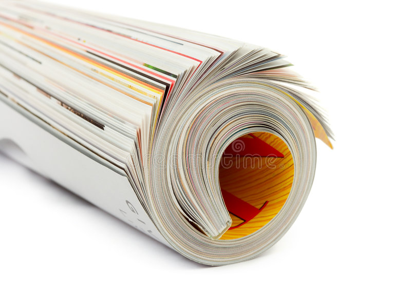 杂志卷 免版税图库摄影