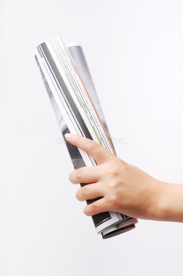 杂志卷 库存图片