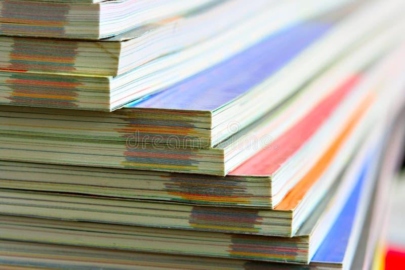 杂志堆积了 免版税库存照片