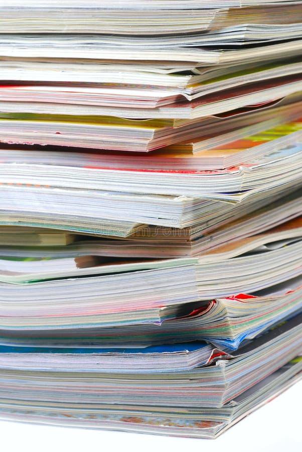 杂志堆 免版税库存图片