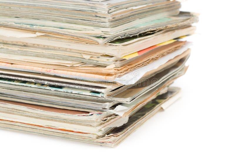 杂志老装箱 免版税库存照片