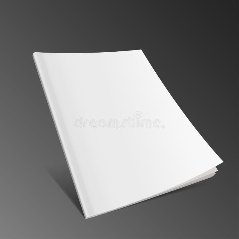 杂志,书,小册子,小册子空白的飞行盖子  被隔绝的例证 向量例证