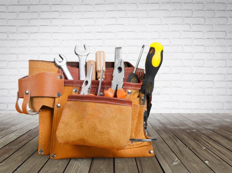 杂物工工具传送带 免版税库存图片