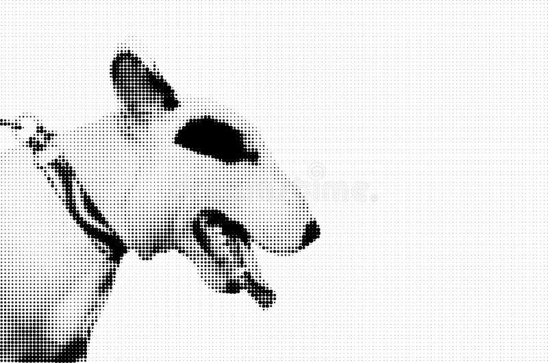 杂种犬中间影调图表 向量例证