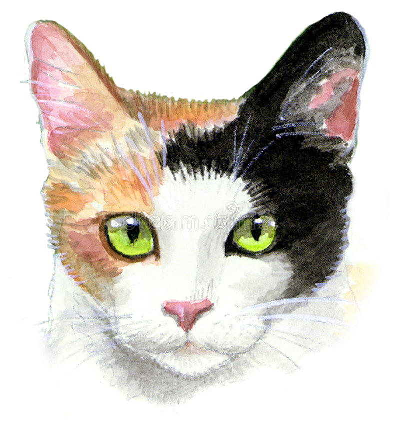 杂色猫例证 向量例证