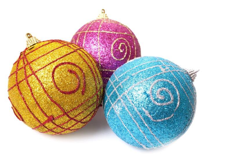 杂色球的圣诞节 免版税图库摄影