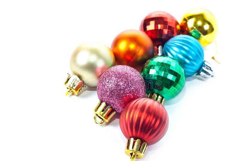 杂色球的圣诞节 库存照片