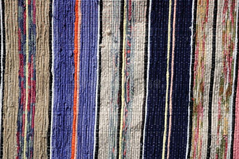 杂色的地毯织物纹理 库存图片