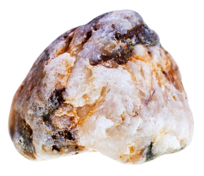 杂色的大理石大卵石石头 库存照片