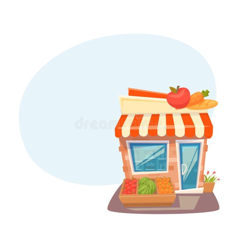 杂货店前面 向量例证
