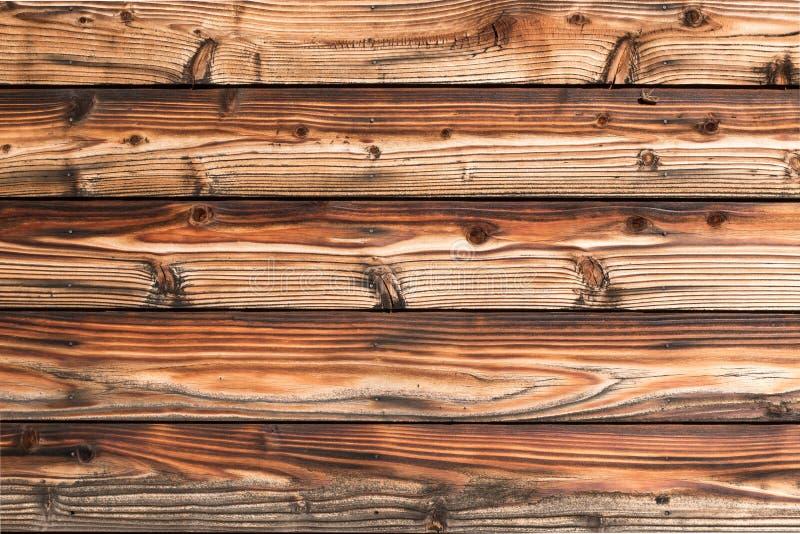 杉木木墙壁黑褐色  免版税库存照片