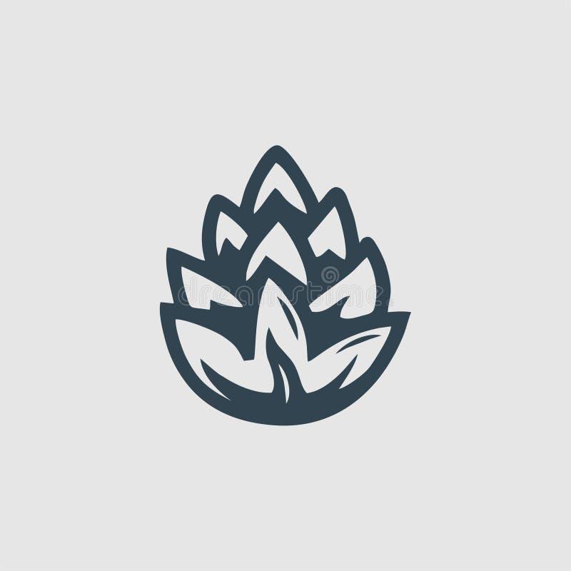 杉木组合图案商标启发 向量例证