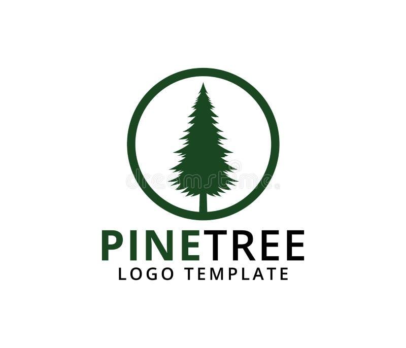 杉树旅馆手段森林公园传染媒介商标设计 库存例证