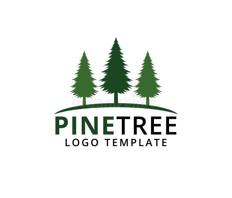 杉树旅馆手段森林公园传染媒介商标设计 向量例证
