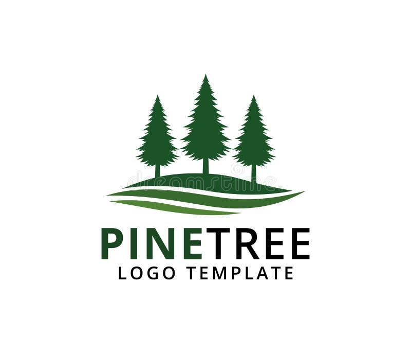 杉树旅馆手段森林高尔夫球场公园传染媒介商标设计 皇族释放例证
