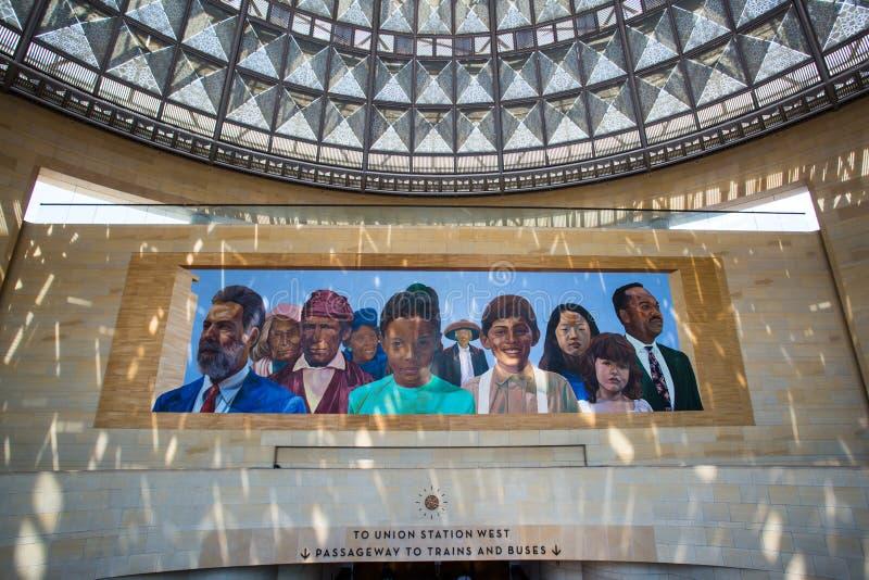 洛杉矶联合驻地壁画 免版税库存照片