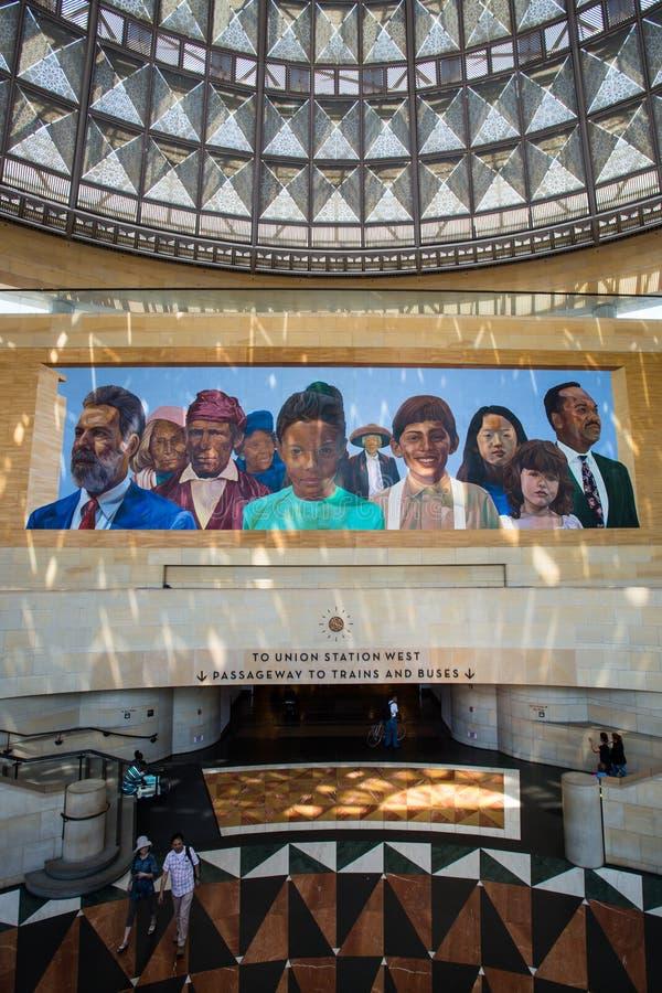 洛杉矶联合驻地壁画 免版税图库摄影