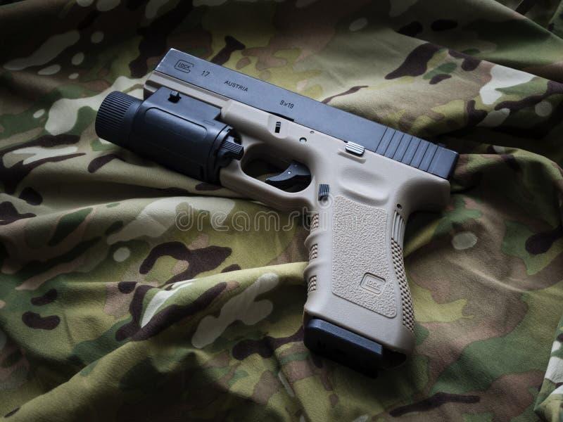 洛杉矶,加州,美国- 2015年9月11日:Glock 17半自动贩卖机 库存照片