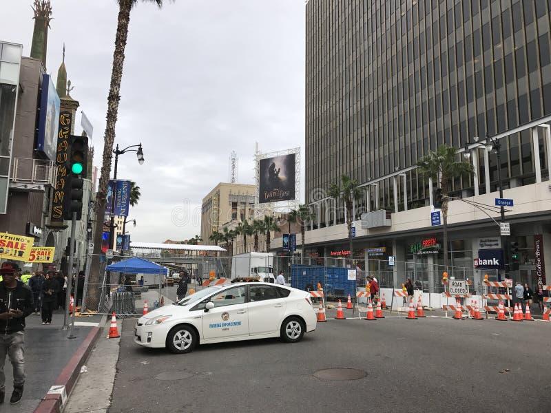 洛杉矶- 2月21 :在杜比剧院的奥斯卡准备, 2017年在好莱坞,洛杉矶,加利福尼亚 免版税库存图片