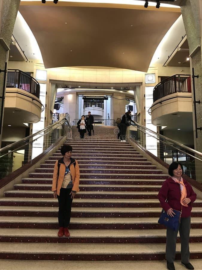 洛杉矶- 2月21 :在杜比剧院的奥斯卡准备, 2017年在好莱坞,洛杉矶,加利福尼亚 免版税库存照片