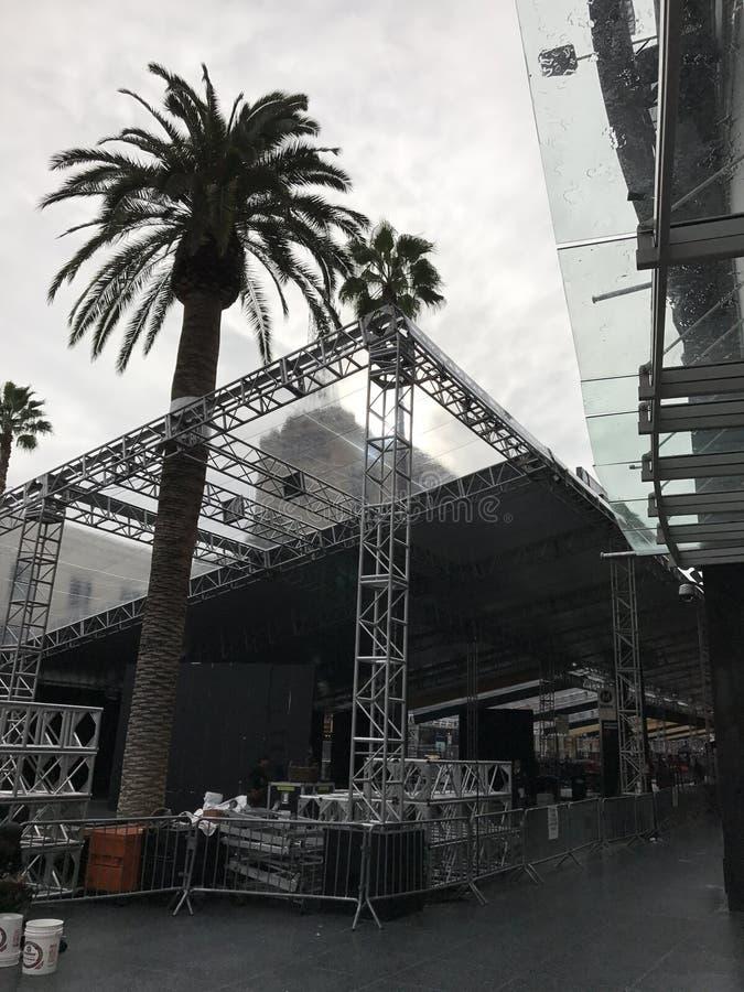洛杉矶- 2月21 :在杜比剧院的奥斯卡准备, 2017年在好莱坞,洛杉矶,加利福尼亚 免版税图库摄影