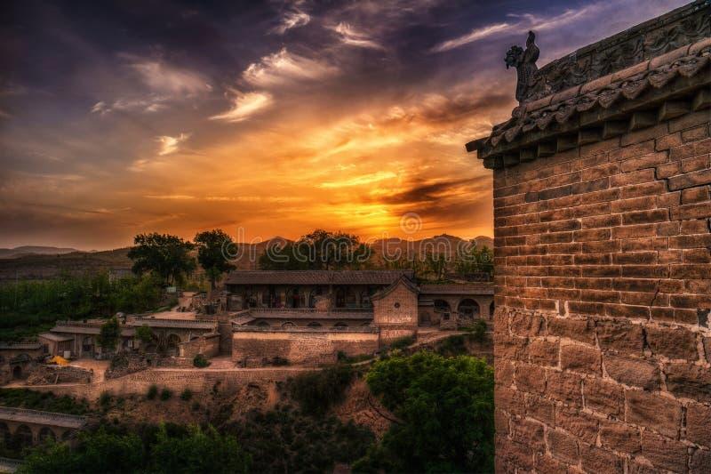 李家山Hobitton在中国 免版税库存照片