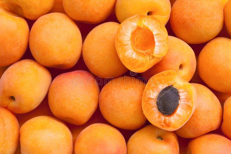杏子健康背景的食物 免版税库存照片