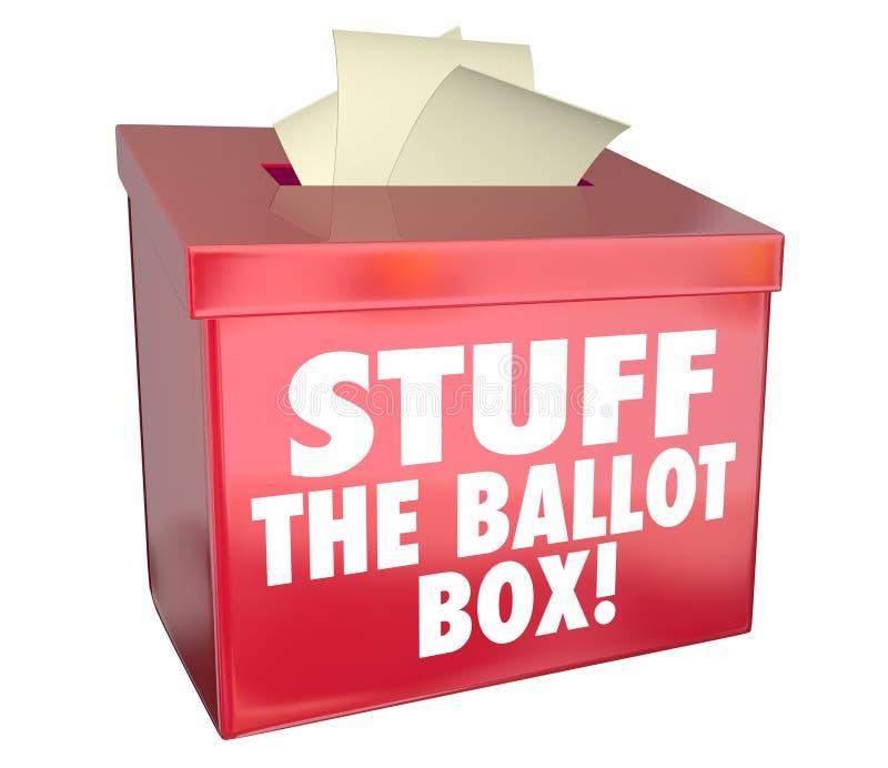 材料投票箱投票操纵竞选在中作假的投票 库存例证