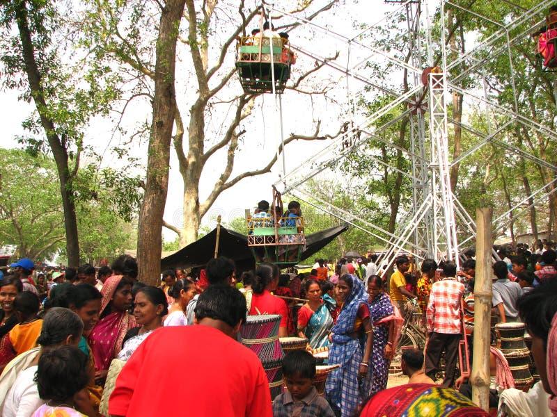 村庄公平在印度 免版税库存图片