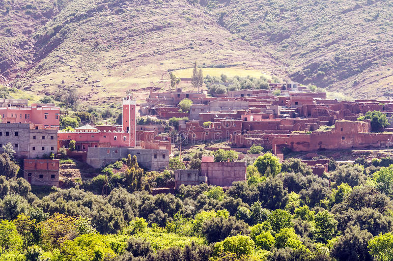 村庄在南摩洛哥 免版税库存图片