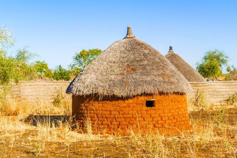 村庄在苏丹 免版税库存图片