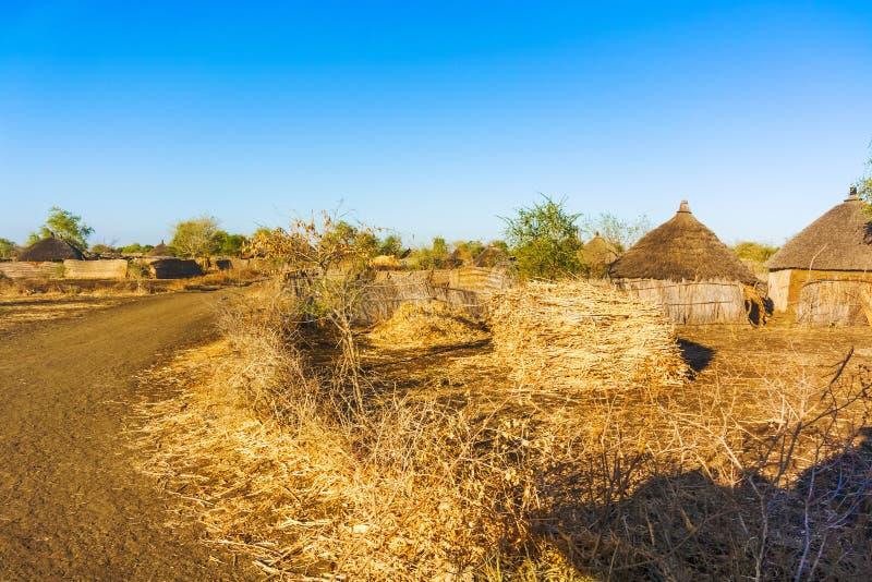 村庄在苏丹 库存照片