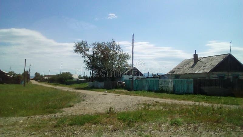 村庄在西伯利亚 库存照片