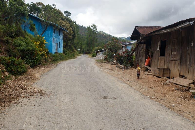 村庄在钦邦地区,缅甸 库存照片