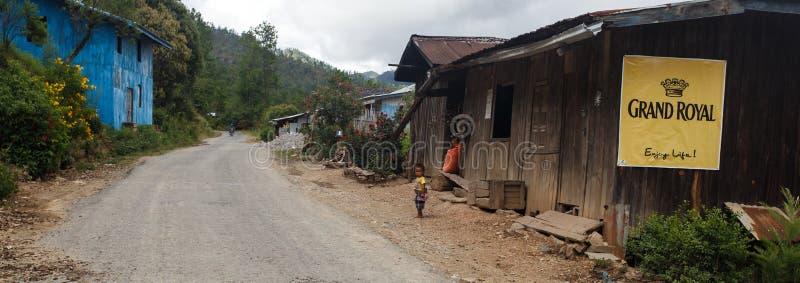 村庄在钦邦地区,缅甸 免版税库存照片