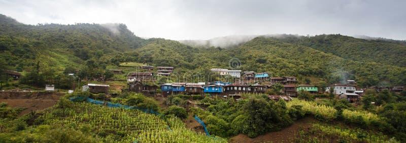 村庄在钦邦,缅甸 图库摄影