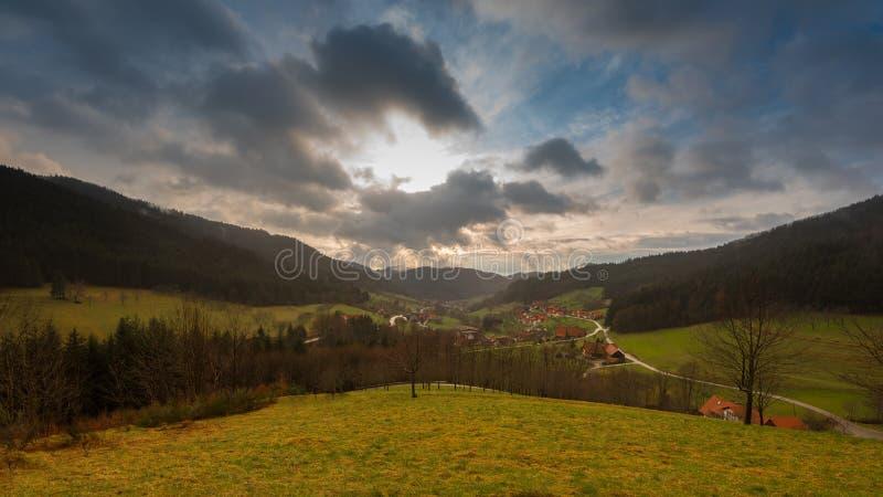 村庄在Blackforest 库存图片
