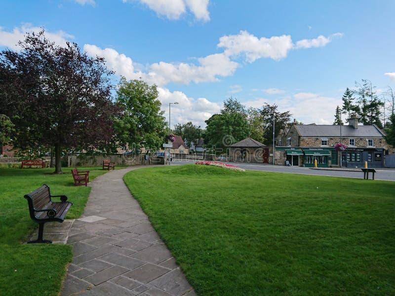 村庄广场在Ponteland村庄,诺森伯兰角,英国 库存图片