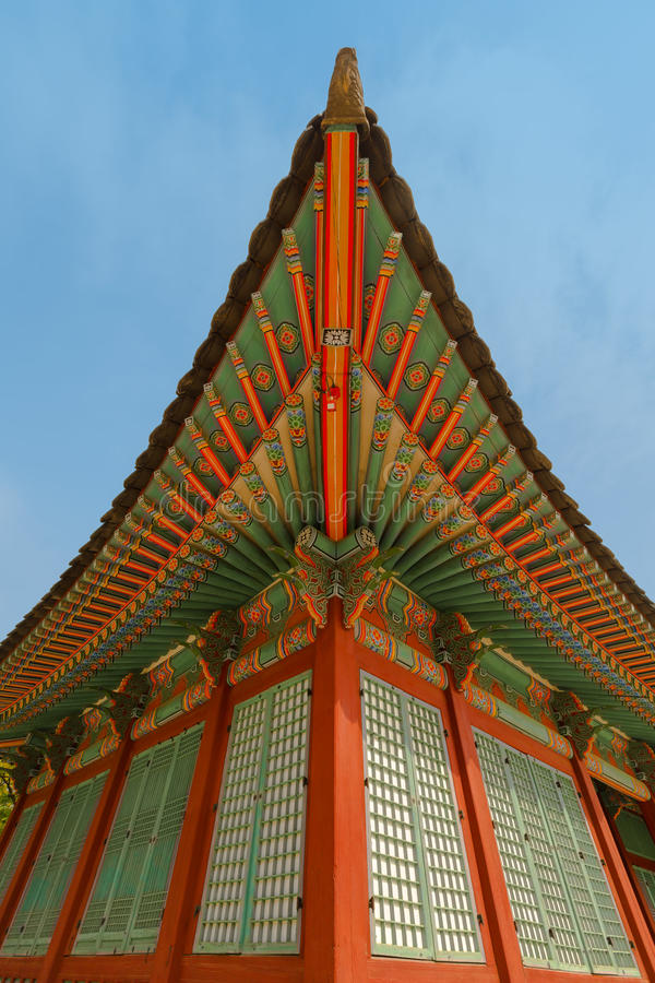 村庄房子传统韩国装饰  免版税库存图片