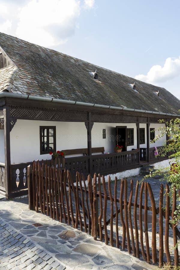 村庄房子在Holloko 免版税库存图片