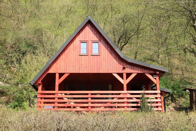 村庄用了木材建造 库存照片
