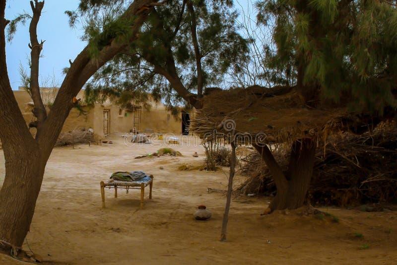 村庄的简单的生活 库存图片