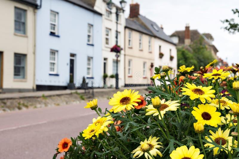 村庄街道在Cotswald,英国,英国 免版税库存图片