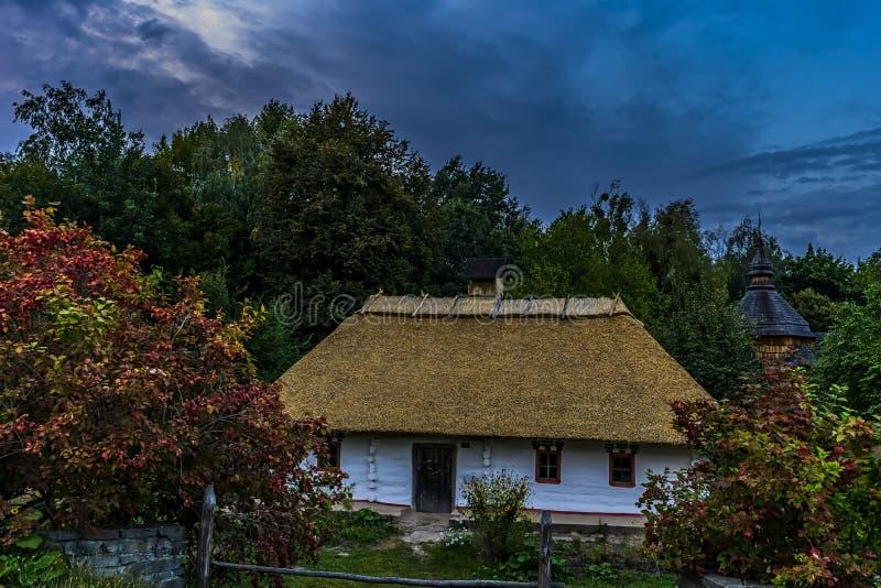 村庄解决在乌克兰在19世纪结束时 库存照片