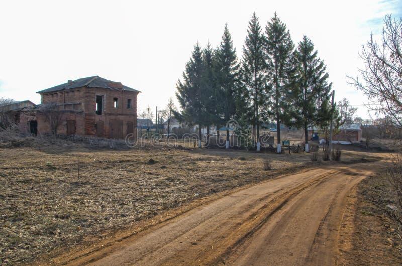 村庄路Otesevo俄罗斯 库存图片