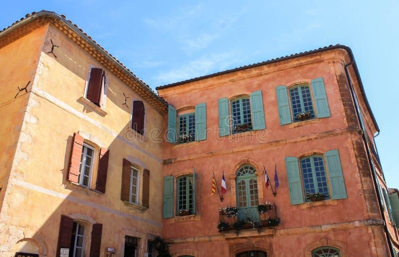 村庄de鲁西永、普罗旺斯和Luberon 库存照片